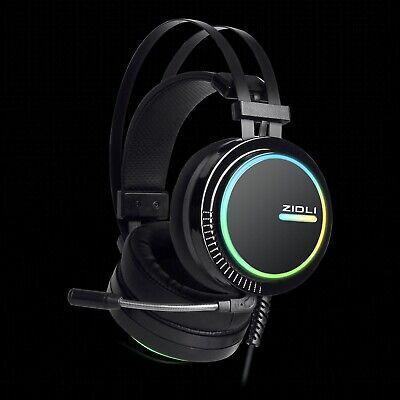 BEST RGB Lighting Gaming HeadsetZIDLI ZH11 7.1 Surround Sound for