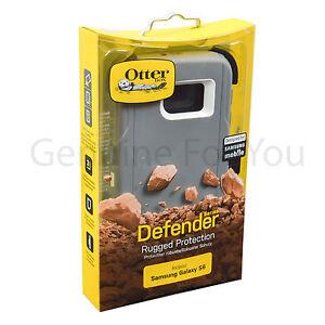 Genuine OtterBox Defender Series Cover Case Stand for Samsung Galaxy S6 Glacier