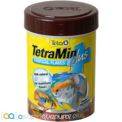 Tetra TetraMin Plus Tropical Flakes Fish Food 1 oz FAST FREE USA SHIPPING