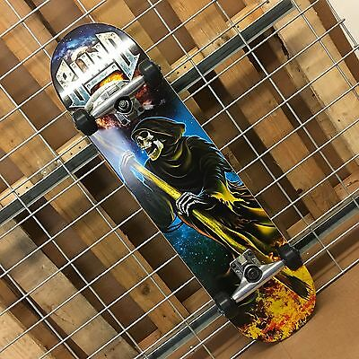 New Blind Reaper Attack Teal/Silver Complete Skateboard - 7.7in