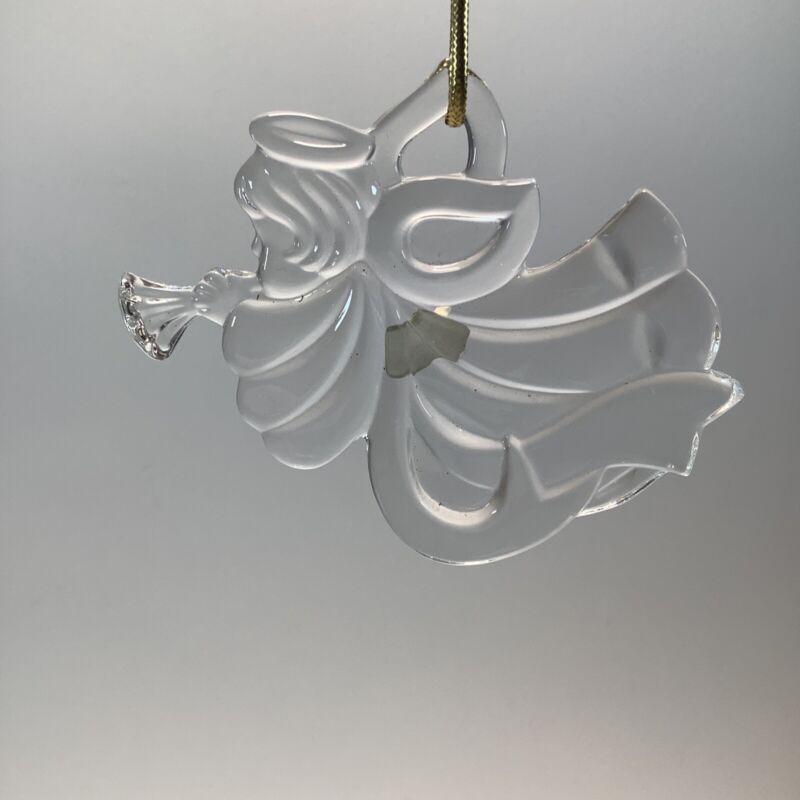 Mikasa Glass Holiday Ornament Angel