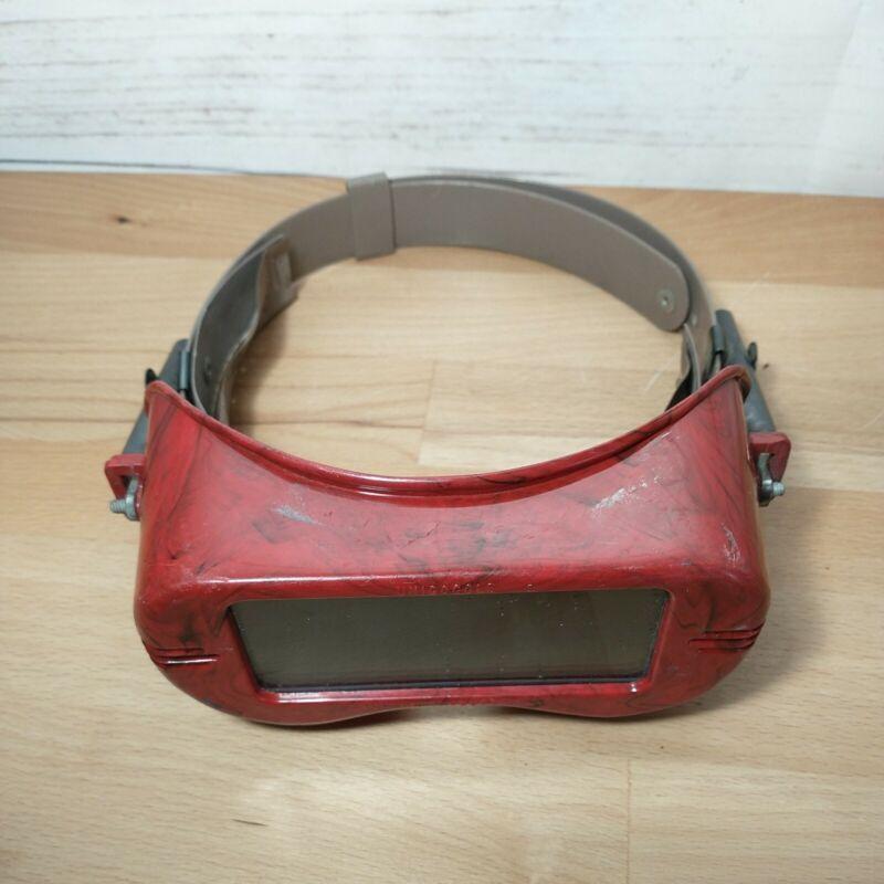 VINTAGE Jackson Unigoggle  Industrial Welding Goggles Red Black Steampunk
