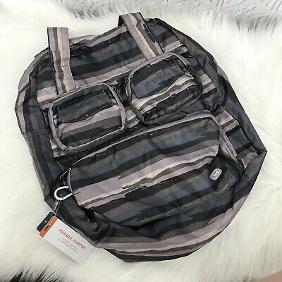 NWT Lug Puddle Jumper Overnight Gym Bag Tote Full Size Foldable Gray Purple