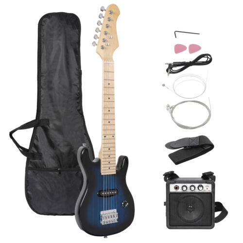30″ Kids Electric Guitar With Amp & Much More Guitar Blue  Combo Accessory Kit Electric Guitars