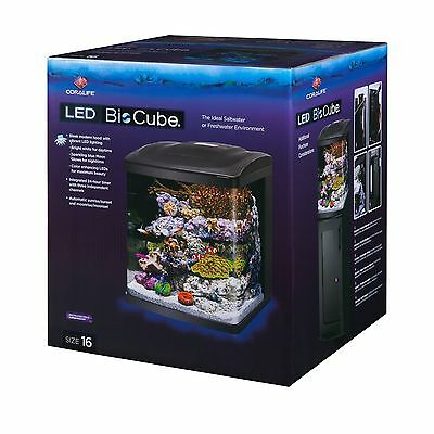 Coralife Fish Tank LED BioCube Aquarium Starter Kits - Size 16
