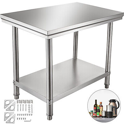 24x36 Stainless Steel Kitchen Work Prep Table Nsf Commercial Restaurant New