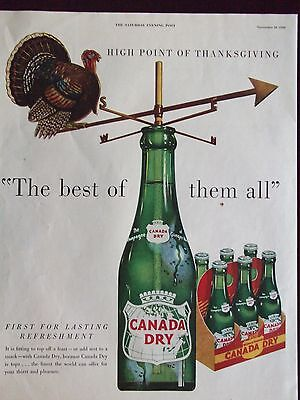 1950 Canada Dry Turkey Compass The Best Of Them All