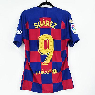 2019-20 Barcelona Player Issue Home Shirt #9 SUÁREZ Marató Match Un Worn...