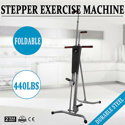 NEW Maxi Climber Vertical Stepper Exercise Fitness with Monitor & Manual Sealed