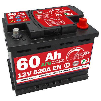 Batteria Auto Speed L2 60Ah 520A 12V AFB Start & Stop = Fiamm TR520 Exide EL600