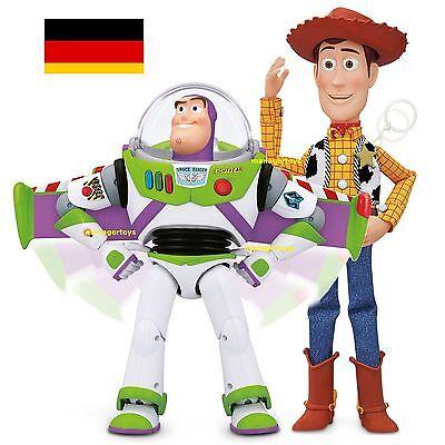 Toy Story BUZZ LIGHTYEAR DEUTSCH und Sheriff WOODY DEUTSCH mit SOUND FX