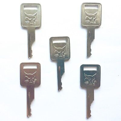 5 Bobcat Melroe Ignition Keys For Skid Steer Loaders Mini Excavators 6693241