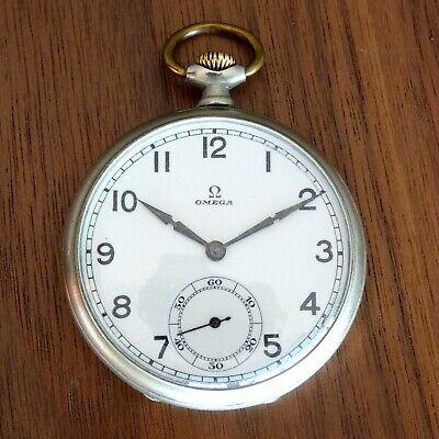 1935 Omega Pocket Watch Cal 38.5L 15j All Original Swiss Vintage