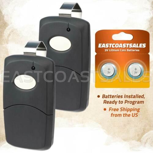 2x For 3089 Multi-Code Multicode 308911 Linear MCS308911 300mhz Remote Black