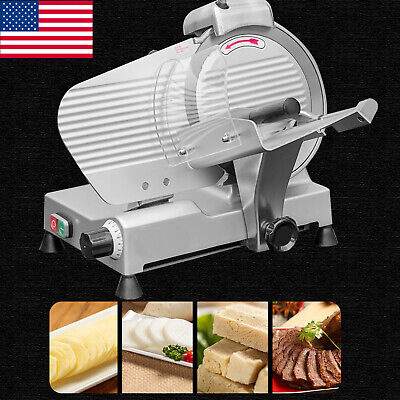 Ups Electric Meat Slicer Cutter 10 In. Stainless Steel 240-watts Semi-automatic