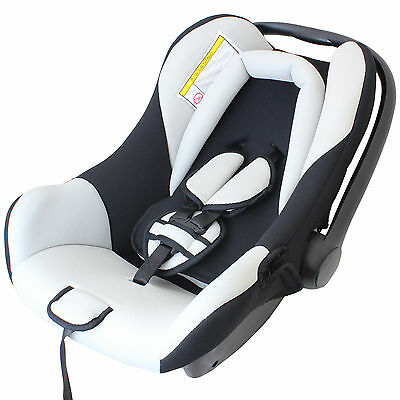 DELUXE BLACK & GREY REAR FACING CHILD/BABY CAR SEAT & CARRY HANDLE 0-13KG KIDS