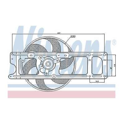 Fits Renault Kangoo 1.2 Genuine OE Quality Nissens Engine Cooling Radiator Fan