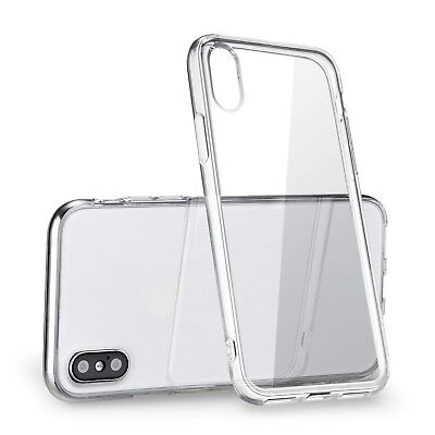 For Apple iPhone X Instance Crystal Clear Bumper Silicone Gel iPhone 10 Soft Cover