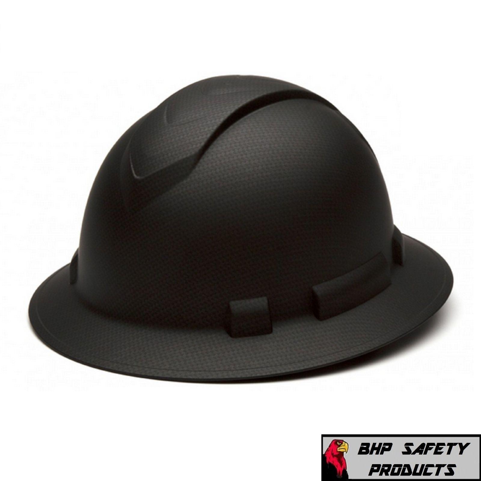 Pyramex Ridgeline Full Brim Graphite Pattern Hard Hat Black