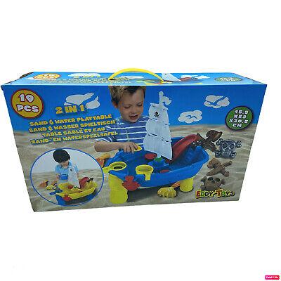 Eddy Toys Kinder 2in1 Sandtisch Wassertisch Spieltisch Wasserspieltisch 19 Teile
