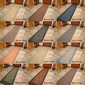 non slip very extra really long narrow wide hallway hall runner floor carpet rug ebay. Black Bedroom Furniture Sets. Home Design Ideas