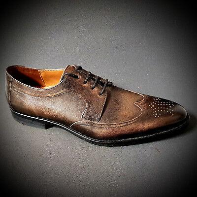 10d697f6f6260 Lloyd edle Herrenschuhe Anzug Schuhe braun Budapester Ledersohle NEU