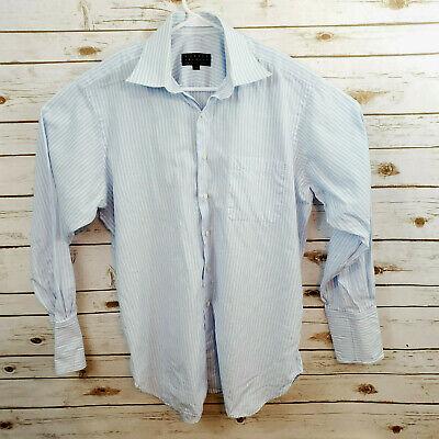 Robert Talbott Best of Class Dress Shirt Mens Size 16-34 Blue Stripe French