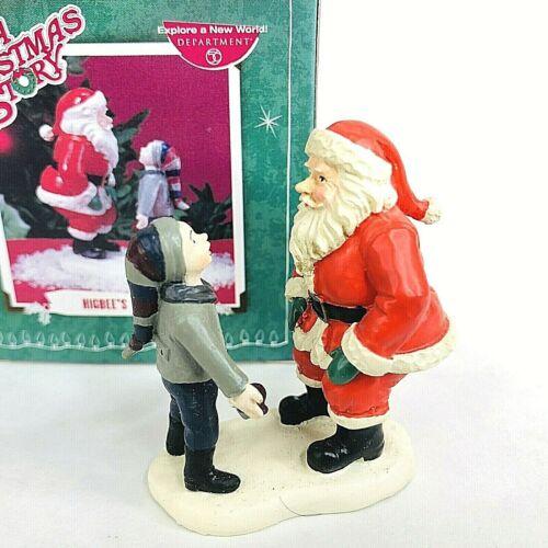 Dept 56 A Christmas Story Higbee's Santa Figurine Village Accessory Retired Box