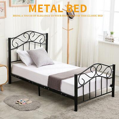 Twin Bed Headboard Footboard (Twin Size Steel Metal Heavy Duty Bed Frame Headboard Footboard Bedroom)