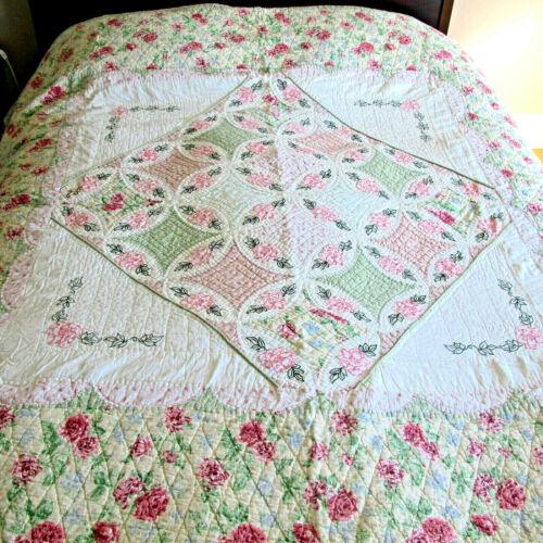 Vintage Hand Stitched Bed Quilt
