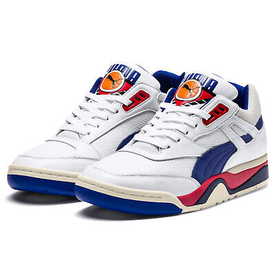 PUMA PALACE GUARD OG Mens Retro Basketball Shoes Leather White Red Blue - Size 8