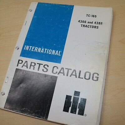 Ih International 4366 4386 Tractor Parts Manual Book Spare Catalog Farm List