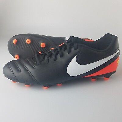 0fc62d48e21 Nike Tiempo Rio III FG Soccer Cleats Men s Size 11 Black White Crimson  819233
