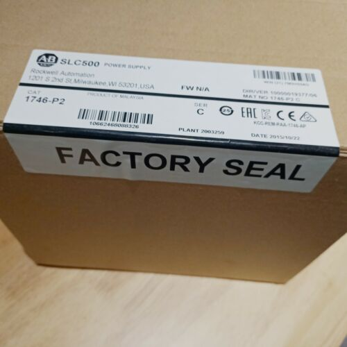 New Factory Sealed Allen Bradley 1746-P2 Chassis Power Supply PLC 1746-P2 New