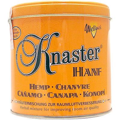 Knaster Hemp 80 g tabakfreie Kräutermischung als Tabakersatz (Hanfaroma) (Dose)