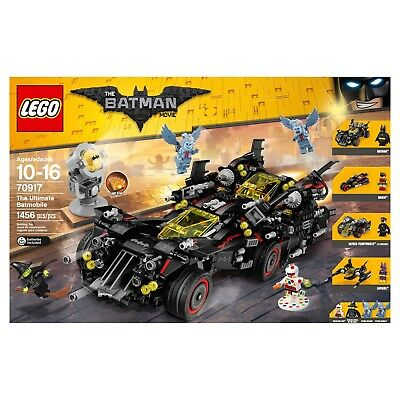 NEW! The LEGO Batman Movie The Ultimate Batmobile Set (70917) 1456 Pieces!