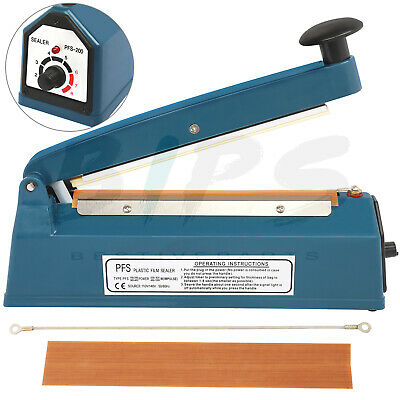 Impulse Sealer Manual Heat Sealing Machine 8 Inch With Replacements For Poly Bag
