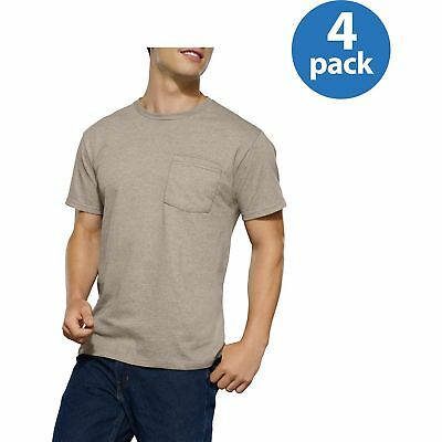 Fruit of the Loom Men's Pocket T-shirts 4-Pack COLORS VARY S
