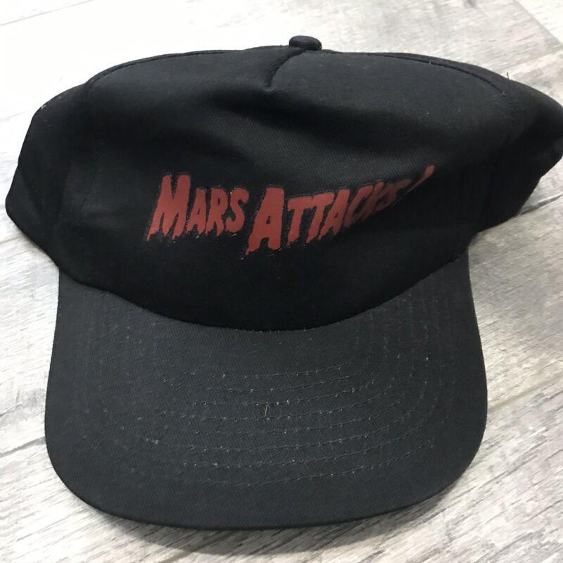 Vintage 90s MARS ATTACKS Cast Crew Movie Snapback Hat Cap 1996 USA Warner Bros
