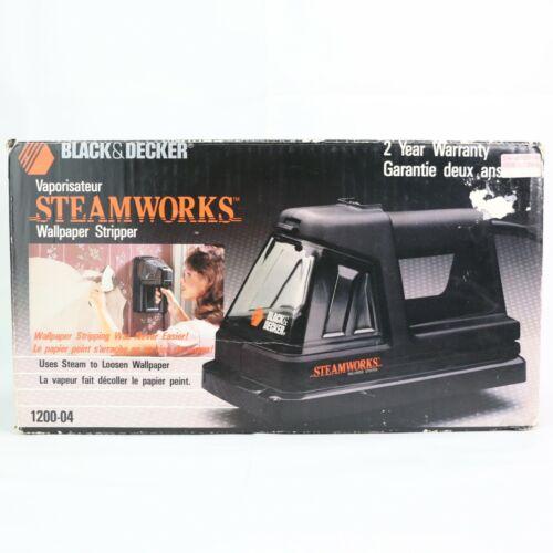 Black & Decker STEAMWORKS Wallpaper Stripper Kit 1200-04 Black Cord With Box