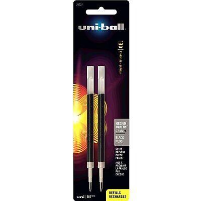 Uni-ball Refill For Uni-ball Signo Gel 207 Medium Black Ink 2 Per Pack --
