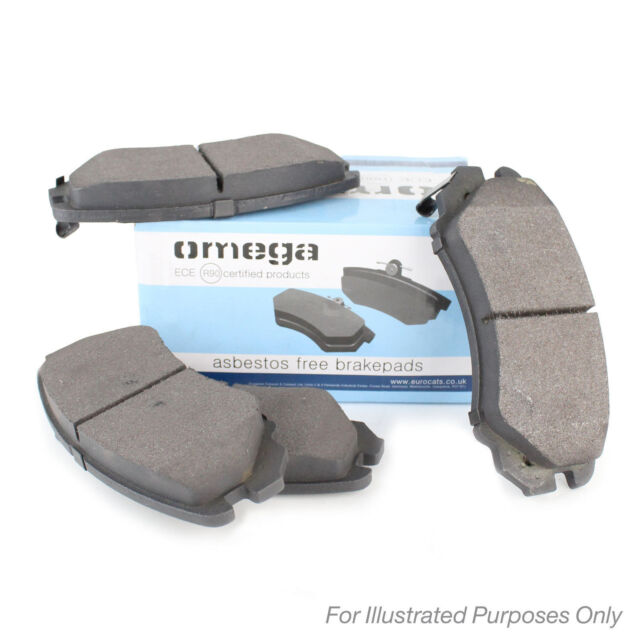 Omega Rear Brake Pads Genuine OE Quality Service Replacement Set