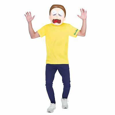 Teens 14-16 Rick and Morty Cosplay Fancy Dress Party Costume Boys Girls