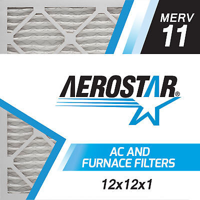 Aerostar 12x12x1 MERV  11,  Air Filter, 12x12x1, Box of 6