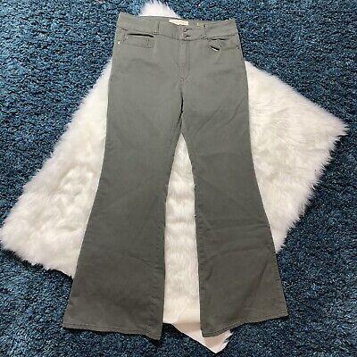 ANTHROPOLOGIE - PILCRO & THE LETTERPRESS - Gray Bell Bottom Flare Jeans Size 31