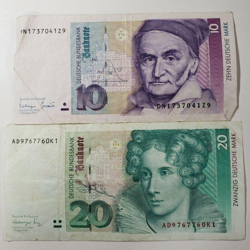 Federal Republic Germany 199110 20 Mark