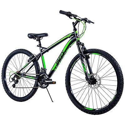 Shimano 18 Speed Adult Mountain Bike Mens 26 inch Wheels Black/Neon Green