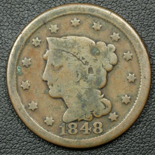 1848 Braided Hair Copper Large Cent