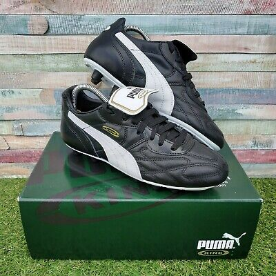 Puma King Top DI FG JN00 Black White Junior Size UK5 EU38 Plastic Studs BNIB