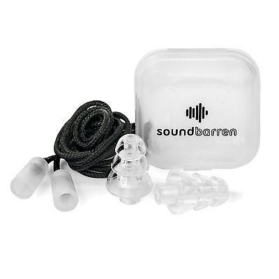SoundBarren Noise Reducing Ear Plugs, 1 Reusable Pair, 28dB Hearing Protectio...